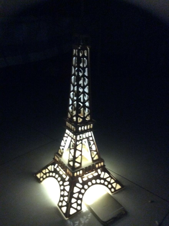 手工制作 3d拼图 巴黎铁塔