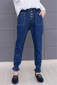 韩版原宿牛仔裤搭配