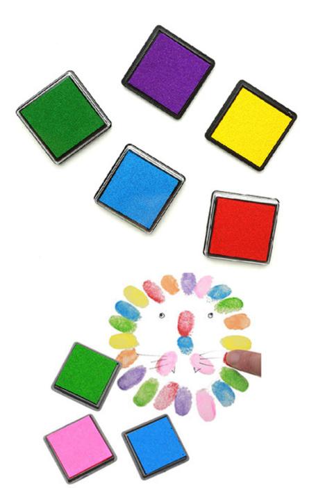 10个颜色 宝宝手指印泥画颜料