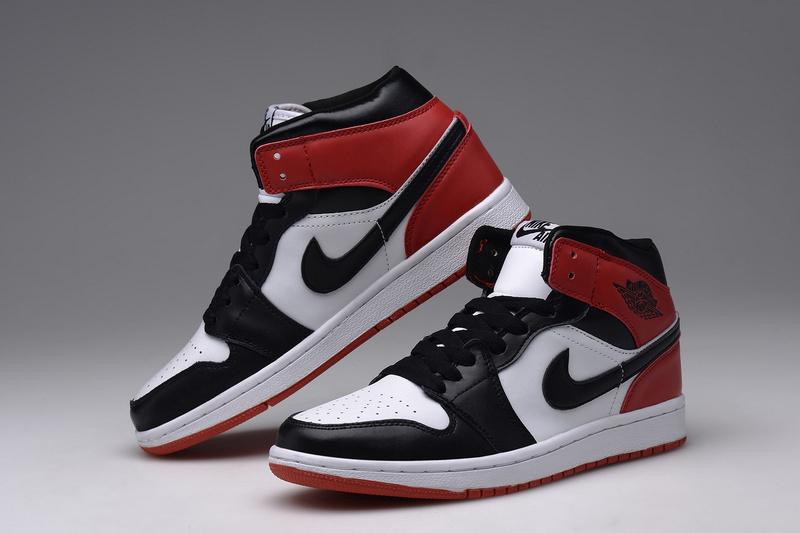 【红颜】耐克乔丹1白红黑情侣篮球鞋