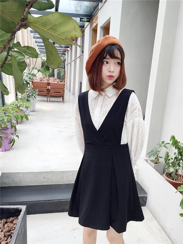 【(桔子美衣)小可爱蕾丝套装裙】-衣服-套装/学生校服