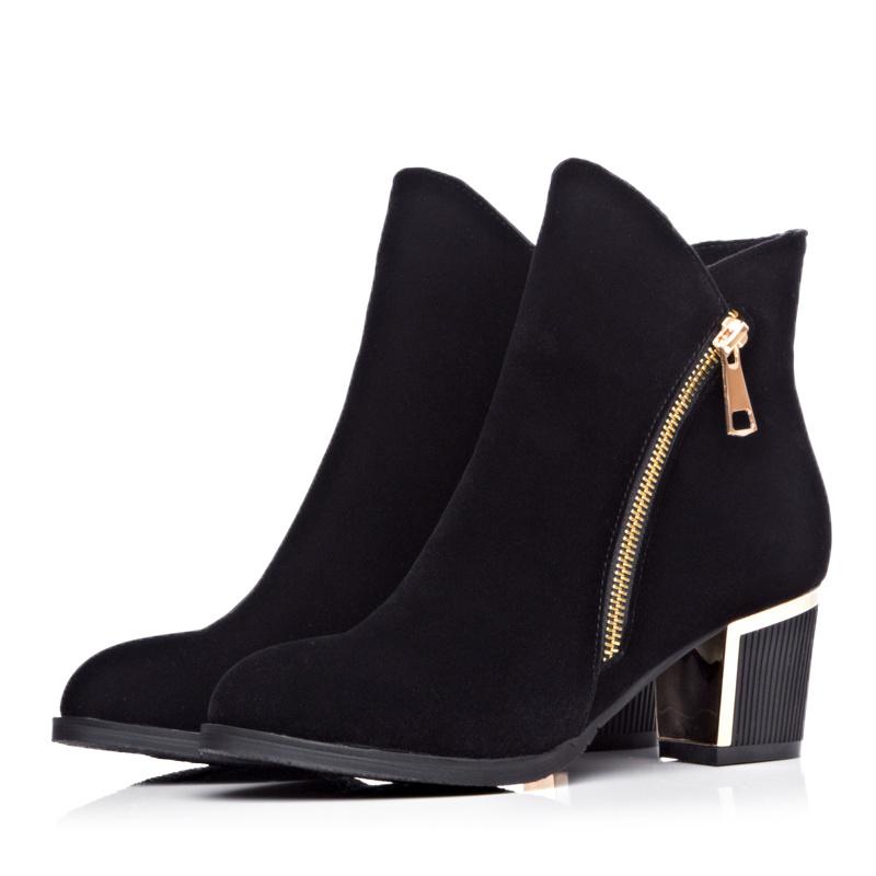 【《洛丽塔》时尚粗高跟短筒靴】-鞋子-靴子_女鞋_鞋