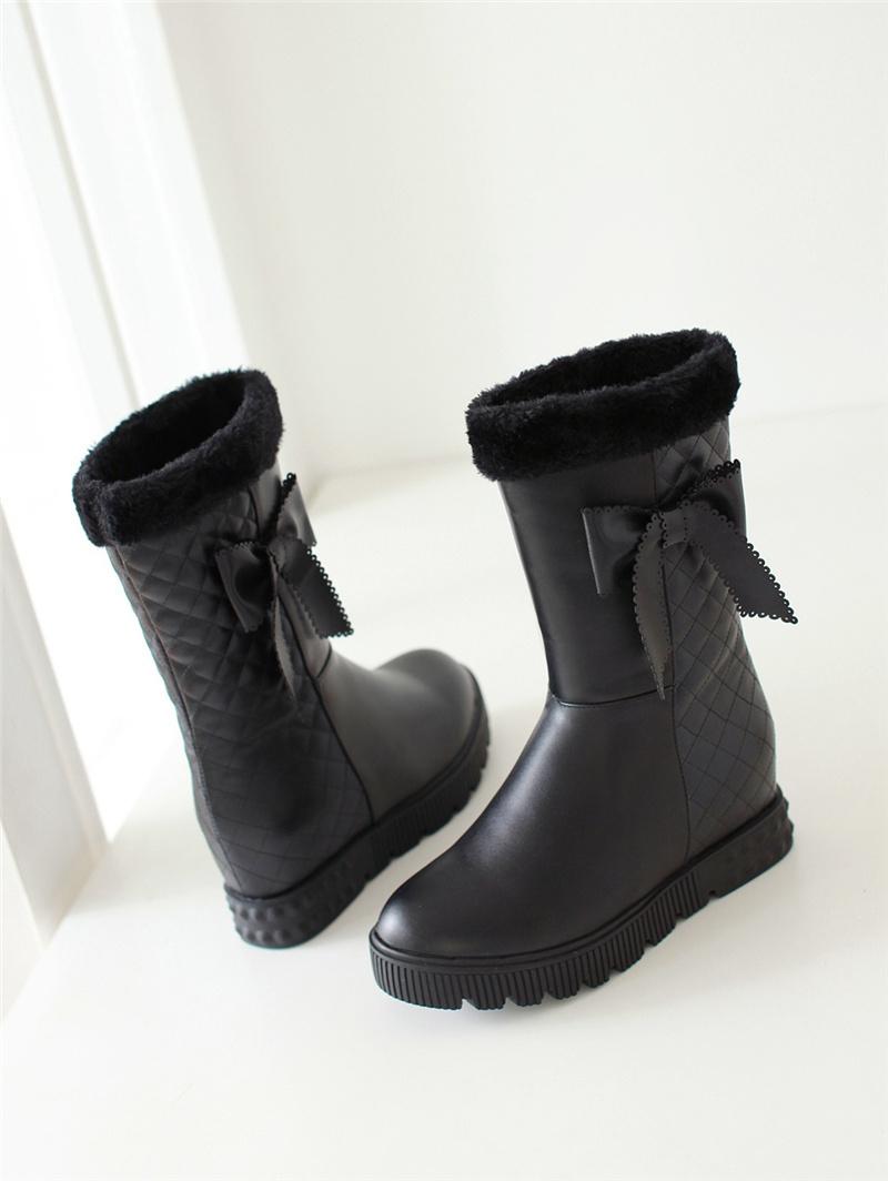 【《洛丽塔》韩版保暖厚底雪地靴】-鞋子-靴子_女鞋