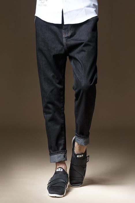 【秋冬季新款男士黑色牛仔裤】-男装-牛仔裤