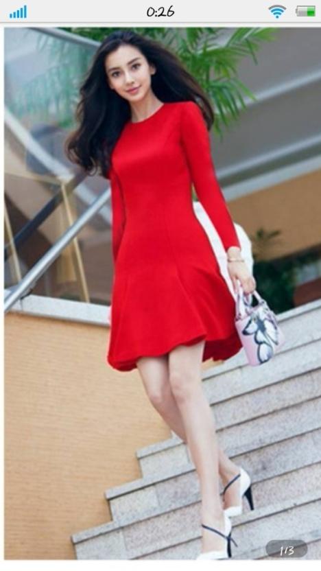 连衣裙,新款,韩版,裙子,杨颖同款,显瘦,甜美