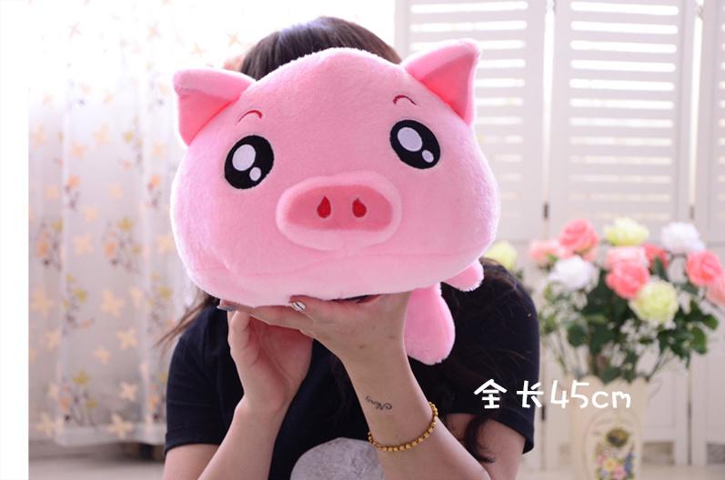萌萌猪出品~会说话的呆萌委屈趴趴猪
