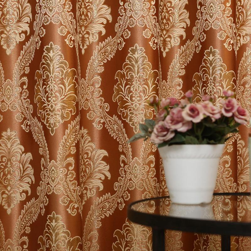新款加密金丝提花窗帘布欧式窗帘客厅卧室百搭款