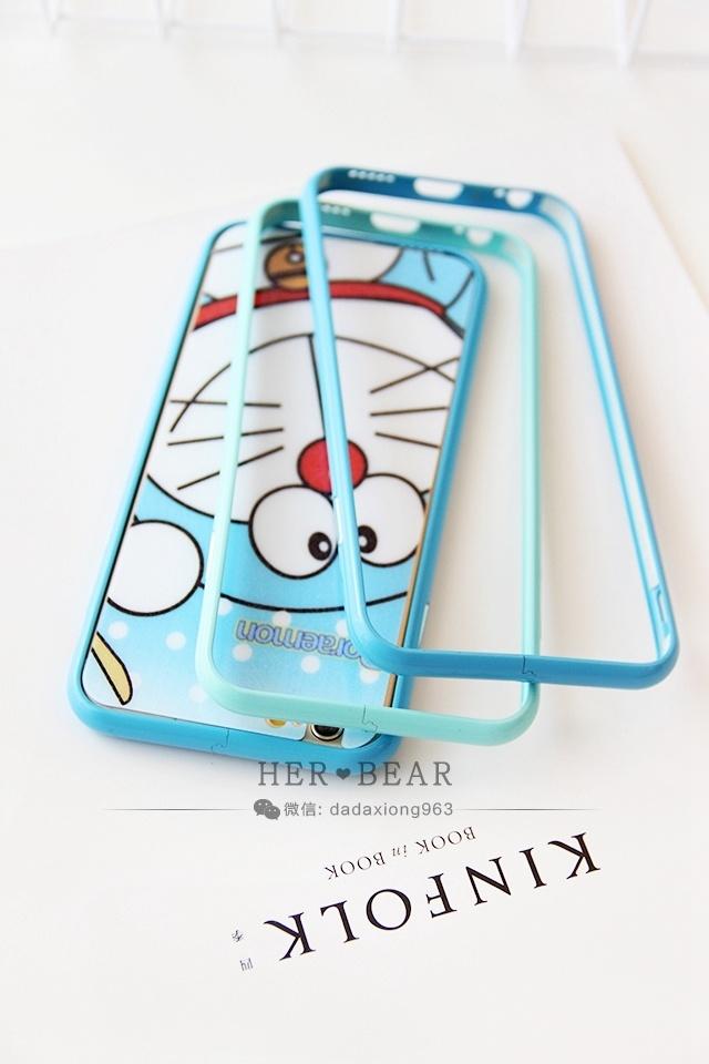 她的熊可爱哆啦a梦iphone6s金属边框
