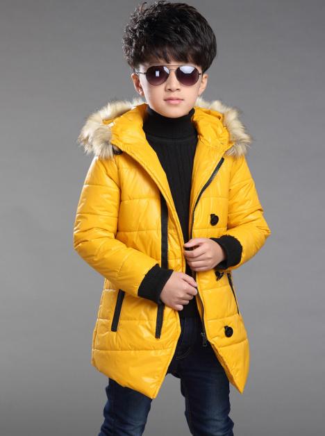 2015冬季新款男童加厚棉衣 儿童冬装棉袄外套