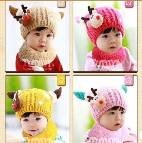 加绒保暖针织儿童帽子