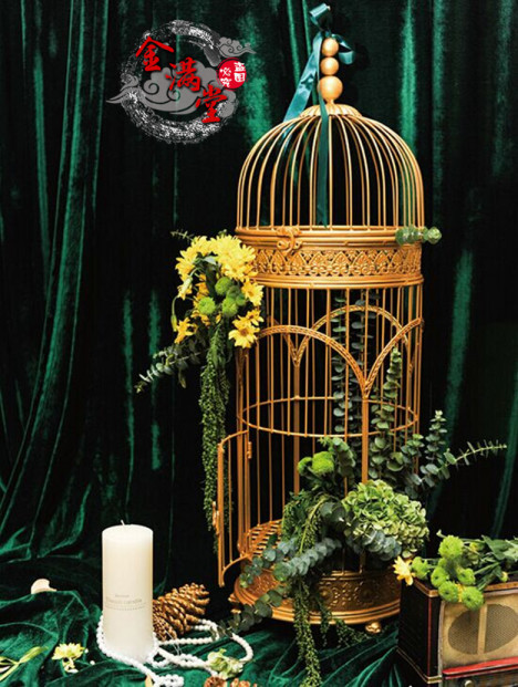 【欧式铁艺鸟笼 婚庆装饰橱窗摆件鸟笼
