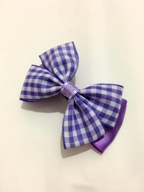 【紫色蝴蝶结夹子】-女士配饰