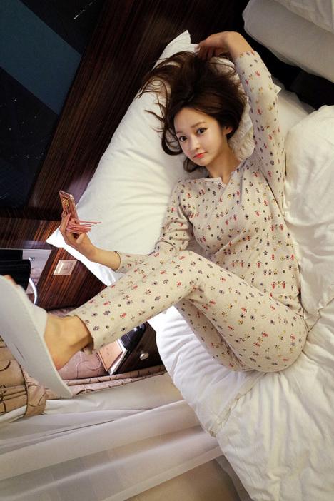 【韩版新品春冬季长袖女生睡衣套装可爱甜美家居服两