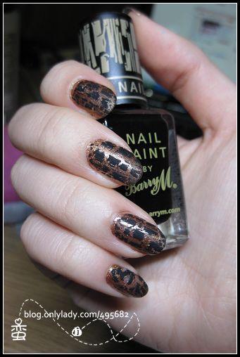 爆裂指甲油_网友tsina_叶x玲分享:金色 黑色爆裂指甲油,会有豹纹